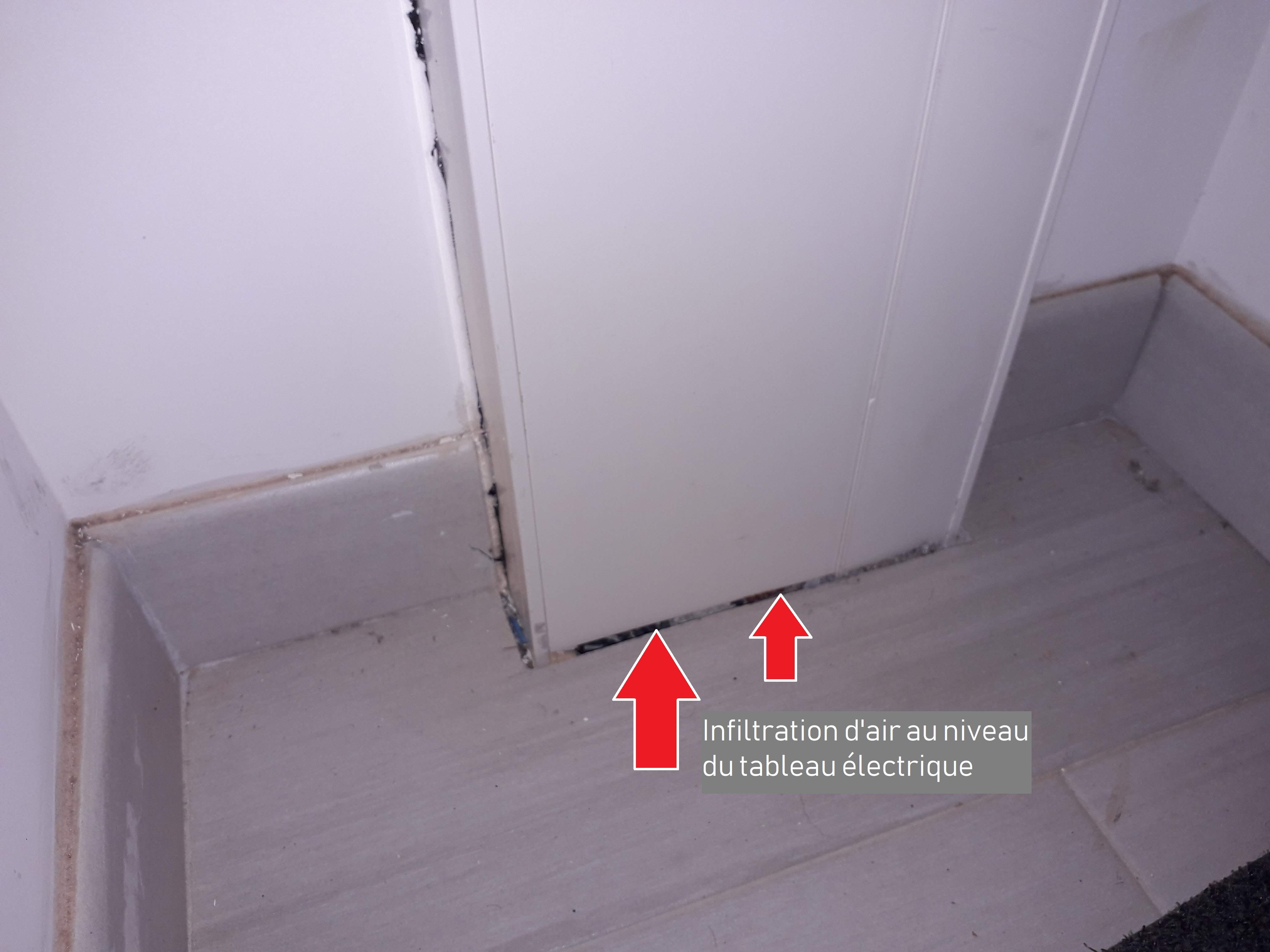 Infiltrométrie dans une maison individuelle 77